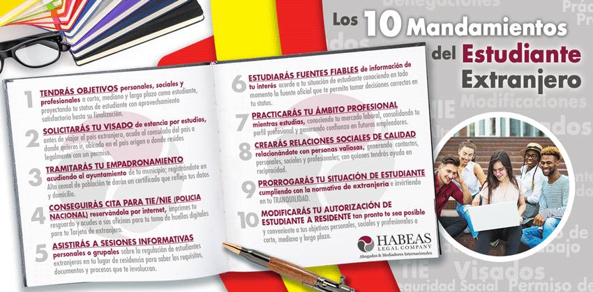 10 Mandamientos Estudiante Habeas 1 - Todo sobre Estudiantes Extranjeros