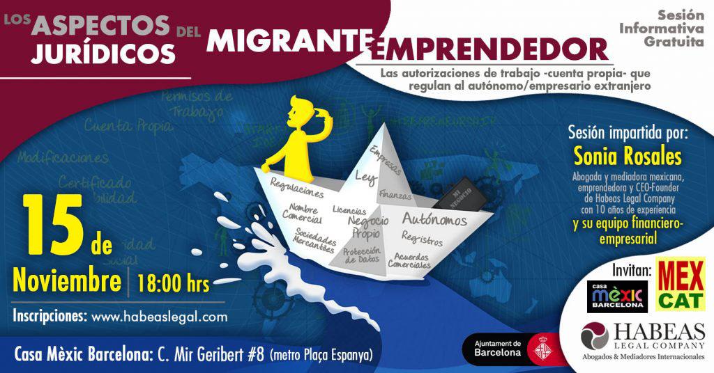 """Aspectos Jurídicos Emprendedor EVENTO FB Oct 1024x536 - """"Los aspectos jurídicos del migrante emprendedor"""": sesión informativa gratuita -Noviembre-"""