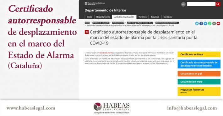 Certificado de desplazamiento Habeas Legal 710x371 1 - Certificado autorresponsable de desplazamiento en el marco del estado de alarma (Cataluña)