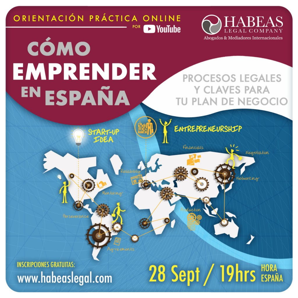 Como Emprender en Espana con Habeas Legal SEPT 2021 1024x1024 - El Migrante Emprendedor