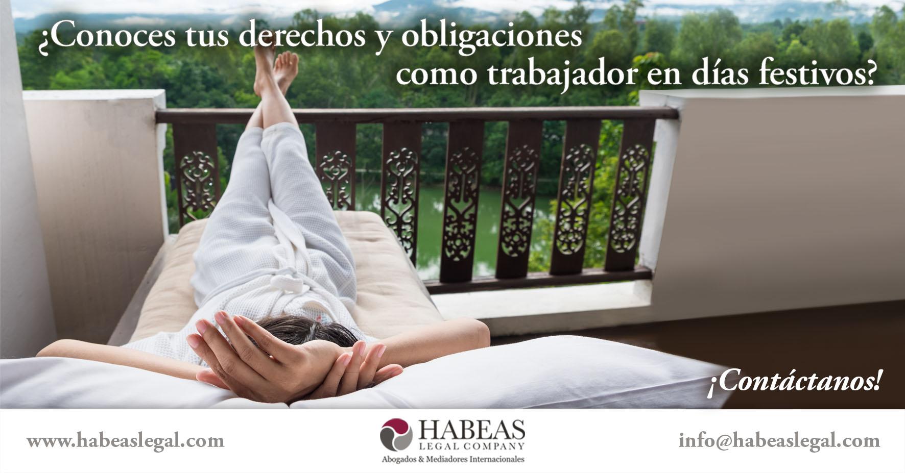 Derechos Obligaciones Trabajador Días festivos Habeas Legal - Blog