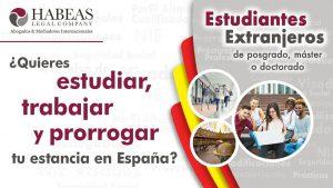 Estudiante Extranjero de posgrado master o doctorado. ¿Quieres estudiar trabajar y prorrogar tu estancia en España 300x169 - Recurso potestativo de reposición