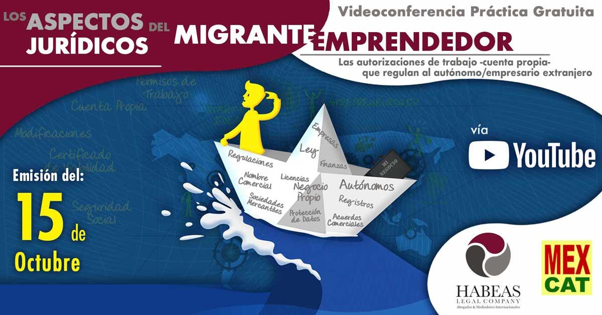 Migrante Emprendedor Emprender en Espana OCT 2020 1 - Abogados Internacionales especializados en Extranjería, Inmigración y Laboral