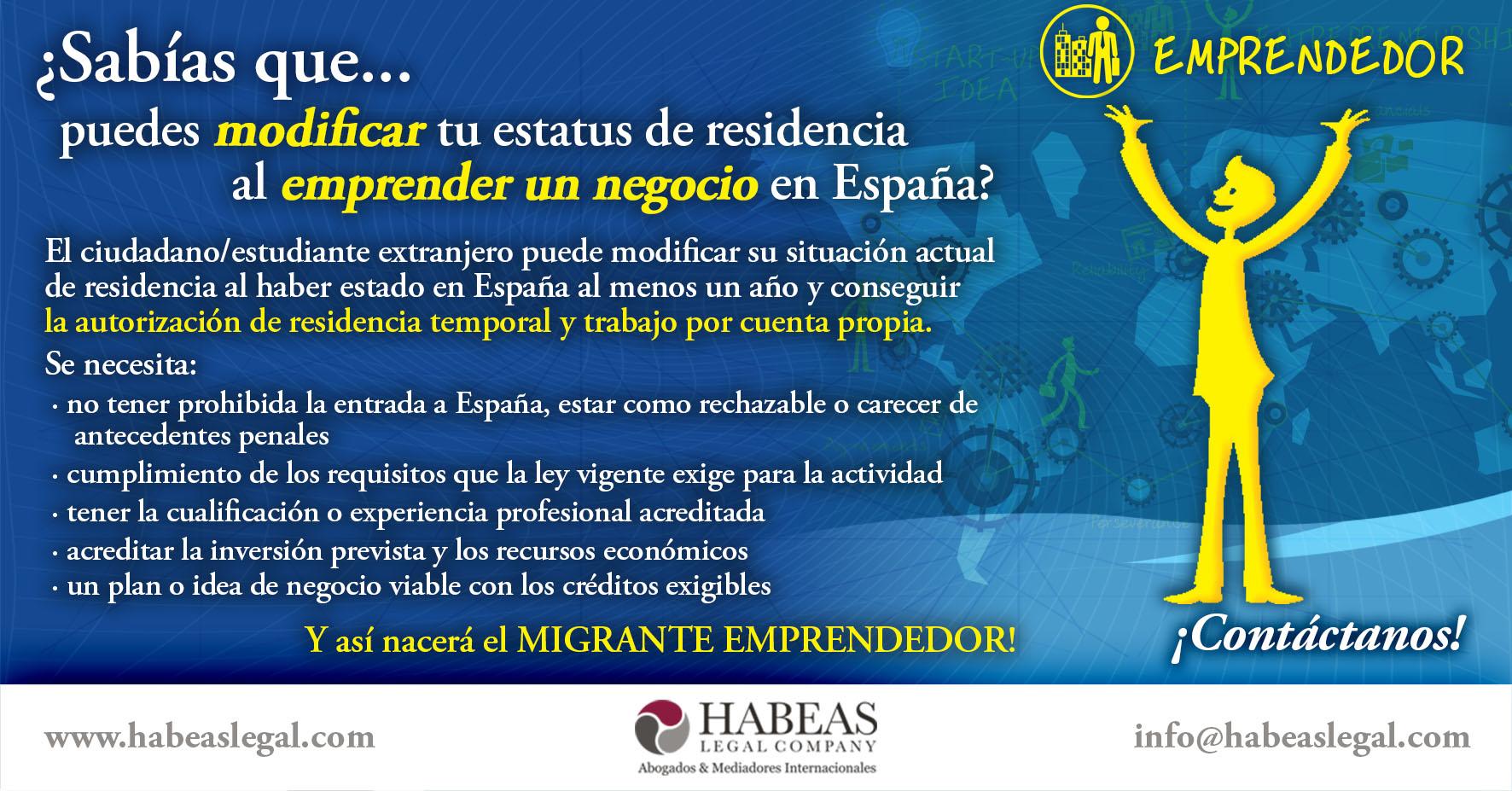 Modificacion Migrante Emprendedor - El Migrante Emprendedor