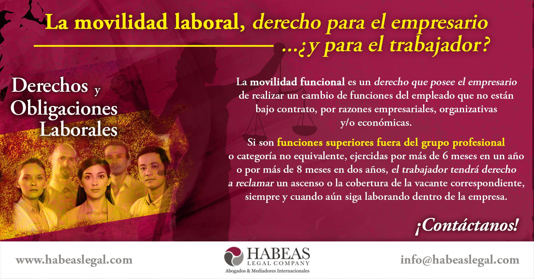 Movilidad Laboral Habeas Legal - ¿Sabes qué es la movilidad funcional?