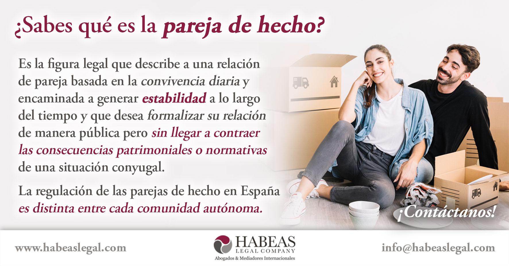 Pareja de hecho Habeas Legal - ¿Sabes qué es la Pareja de Hecho?