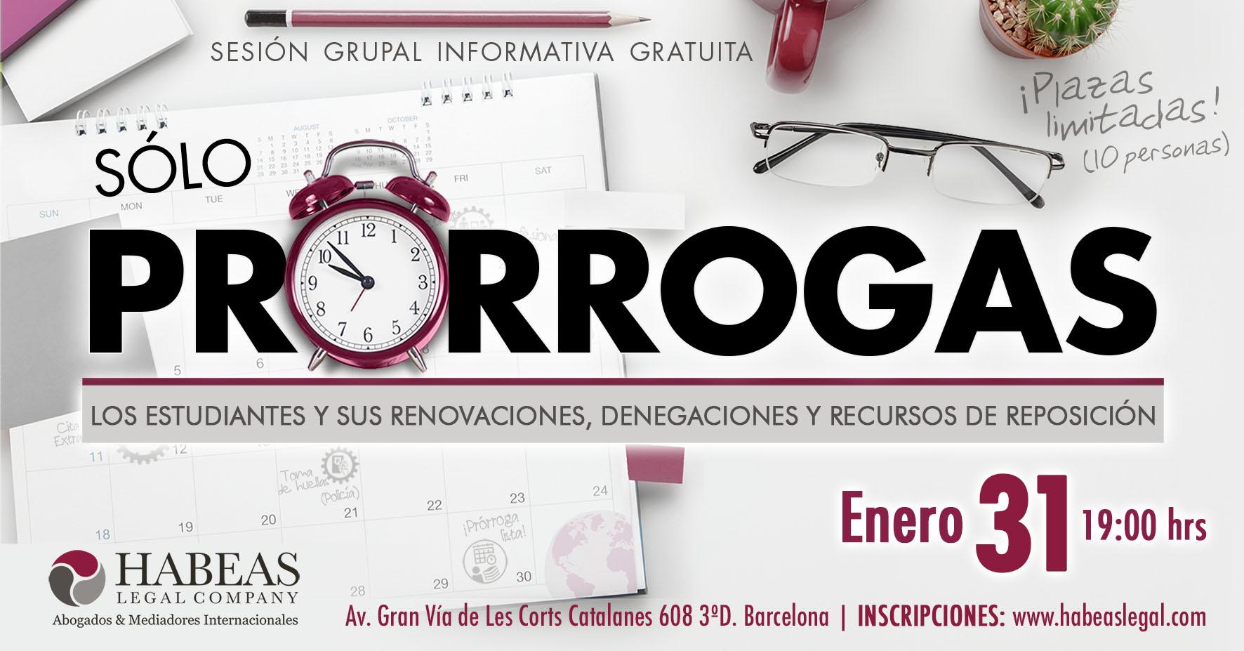 Prorrogas evento calendar ENE2019