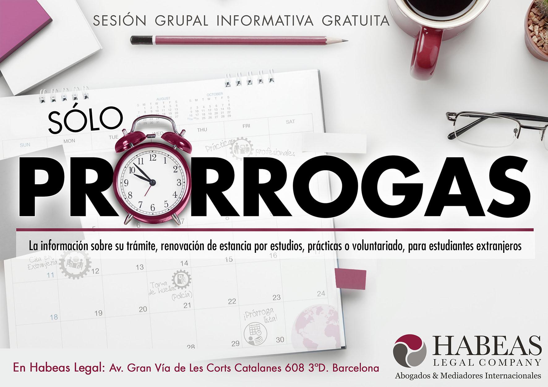 """Prorrogas poster A4 2 - """"Sólo Prórrogas"""" - sesión informativa grupal gratuita - Mayo"""