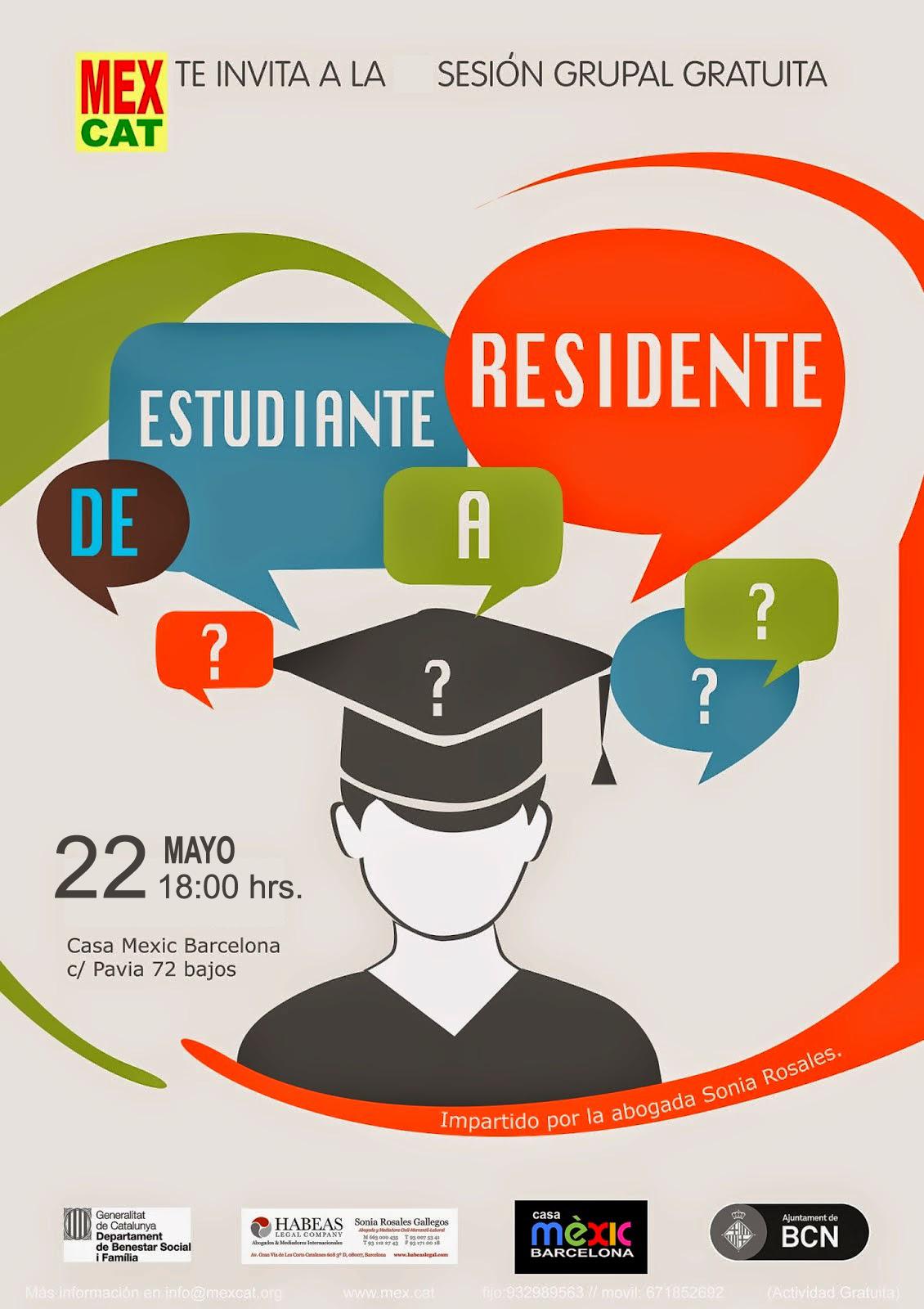 RESIDENTE A ESTUDIANTE 22 Mayo - Estudiante a residente